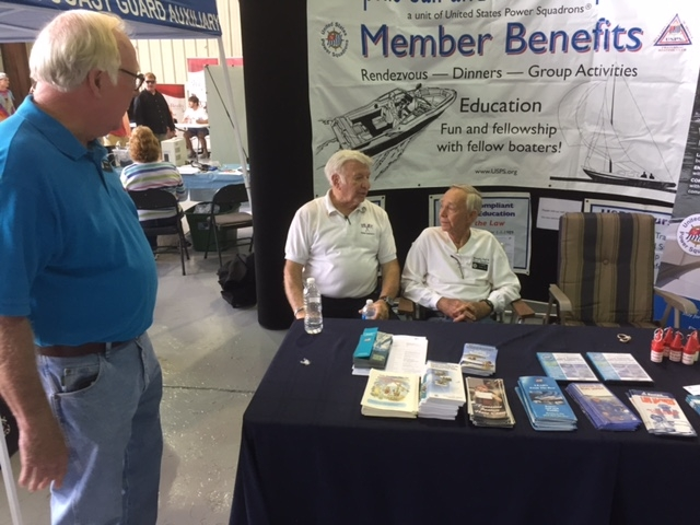 Ken Pasley, Chuck Stone, JC Kennedy at Boat Show