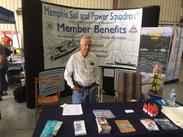 JC Kennedy working Aqua Boat Show