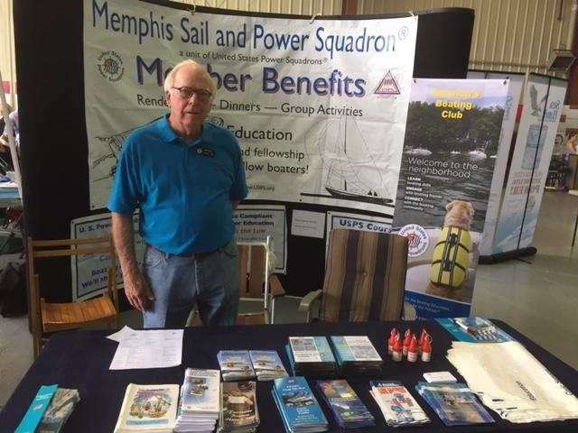 Ken Pasley working Aqua Boat Show