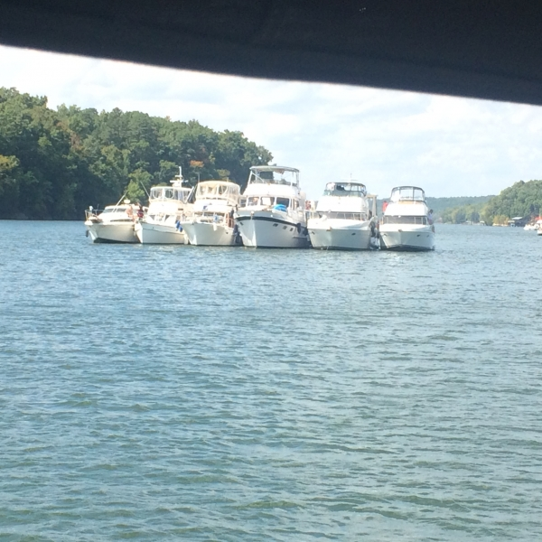 Boats Rafted Up